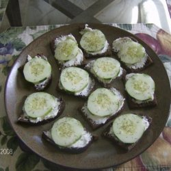 Cucumber-Dill Cocktail Sandwiches recipe