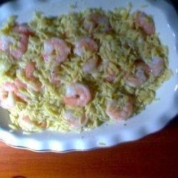 Yummy Orzo Pasta With Shrimp recipe