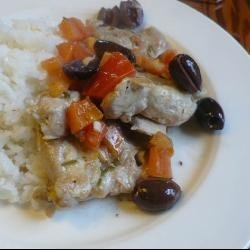 Chicken with Tomatoes and Olives recipe