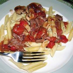 Saute of Beef with Wild Mushrooms recipe