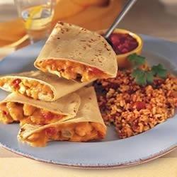 Chicken Quesadillas and Fiesta Rice recipe
