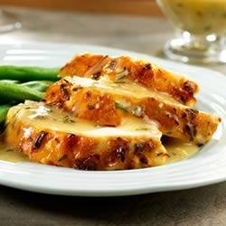 Lemon-Herb Roast Chicken with Pan Gravy recipe