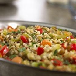 Rice and Lentil Pilaf recipe