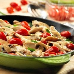 Chicken with Grape Tomatoes and Mushrooms recipe