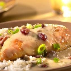 Saucy Cranberry Orange Chicken recipe