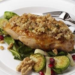 Garlic and Walnut Crusted Chicken recipe