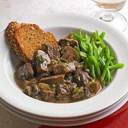 Beef and Mushrooms Dijon recipe