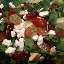 Romaine, Feta and  Grape Salad recipe