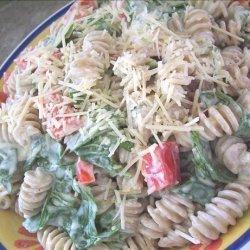 Roasted Red Pepper Caesar Pasta Salad recipe