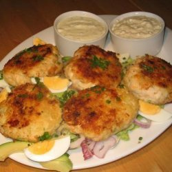 Cod Patties With Two Dipping Sauces recipe