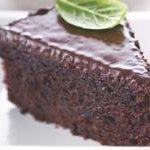 Almond Fresh Fudge Cake With Creamy Chocolate Frosting recipe