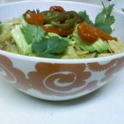 Tortilla Soup With Chicken & Veggies recipe