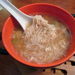 Egg Drop Soup With Chicken and Noodles recipe