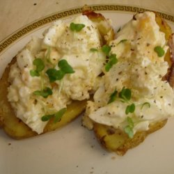 Wicklewood's Egg Filled Potato Skins recipe