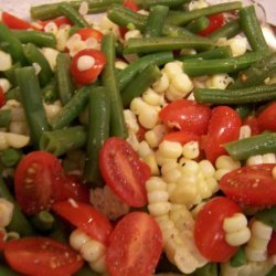 Jeanne's Green Beans, Corn and Cherry Tomato Salad recipe