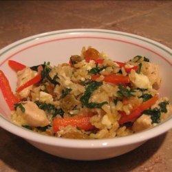 Mediterranean Spinach and Rice recipe