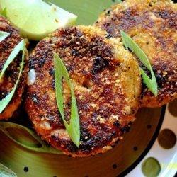 Salmon Patties With Seasoned Mayo recipe