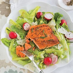 Grilled Salmon Caesar Salad recipe