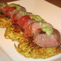 Prosciutto Wrapped Lamb With a Minted Pea Sauce recipe