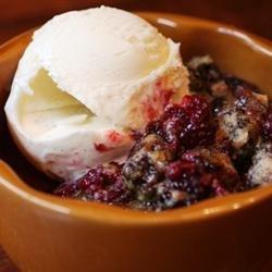 Easy Fruit Cobbler Cake recipe