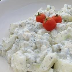 Blue Cucumber Salad recipe