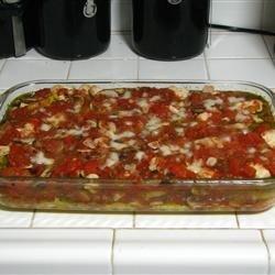 Chicken, Mushroom, and Polenta Lasagna recipe