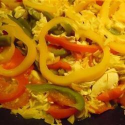 Three Pepper Pilaf recipe