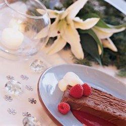 Chocolate Truffle Loaf With Raspberry Sauce recipe