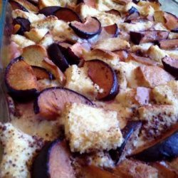 Plum Bread Pudding recipe