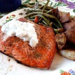 Greek Salmon With Tzatziki Sauce recipe