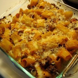 Baked Rigatoni With Beef recipe