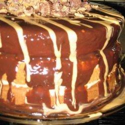 Peanut Butter Cup Torte With Milk Chocolate Ganache recipe