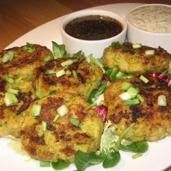 Fish Patties With Two Dipping Sauces recipe