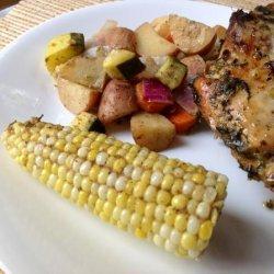 Basil Lemon Brined Grilled Chicken recipe