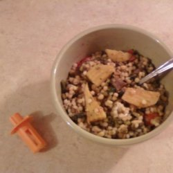 Couscous and Mung Bean Salad With Golden Beets and Greens recipe
