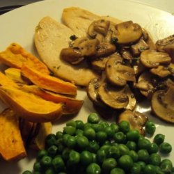 Turkey Marsala With Sweet Potato Wedges recipe