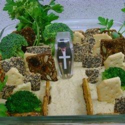 Halloween Hummus Graveyard recipe