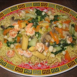 Seafood Pan Fried Noodles recipe