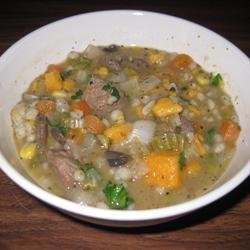 Melanie's Beef Barley Soup recipe
