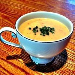 Cream of Green Garlic and Potato Soup recipe