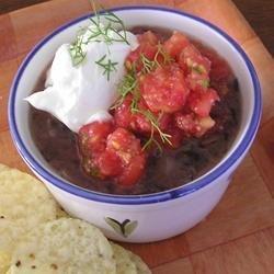Black Beans with Pico de Gallo recipe