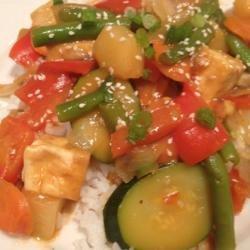 Sweet and Sour Tofu Veggies recipe