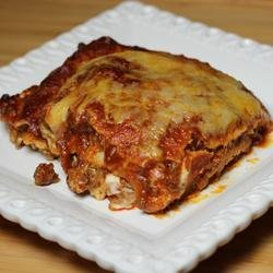 Mexican Lasagna Lite recipe