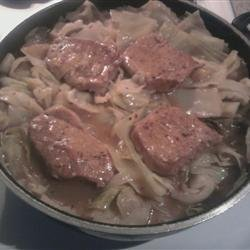 Simple Pork and Cabbage Skillet recipe