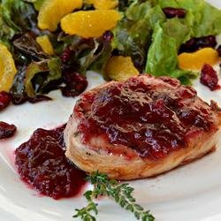Pork Cutlets with Cranberry Wine Sauce recipe