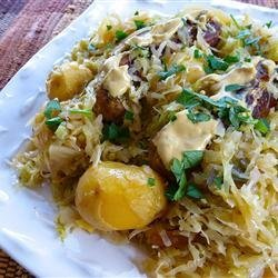 Chicken Apple Sausage with Cabbage recipe