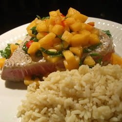Tuna Steaks with Melon Salsa recipe