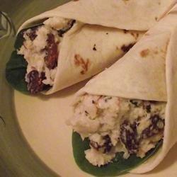 Turkey and Grape Wraps recipe