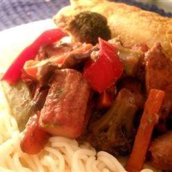 Heather's Blueberry Chicken Stir Fry recipe