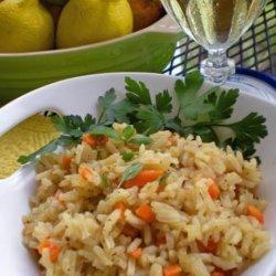 Riz Au Vin - Rice in White Wine recipe